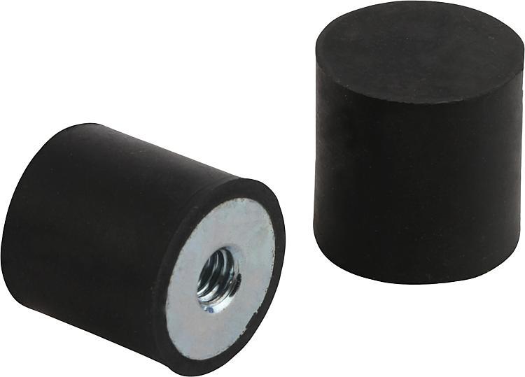 Tampon en caoutchouc Amortisseurs Silent Bloc tampon de caoutchouc de m/étal 25/mm x 25/mm M6/x 18/mm
