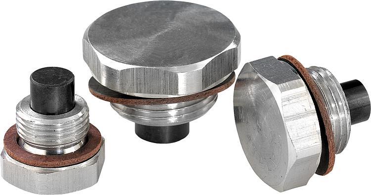 Norelem Bouchon Fileté Aluminium Avec Insert Magnetique