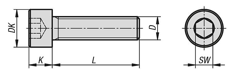 Acier galvanis/é, M6*20mm DIN 912 Vis /à six pans creux 10 pi/èces acier galvanis/é