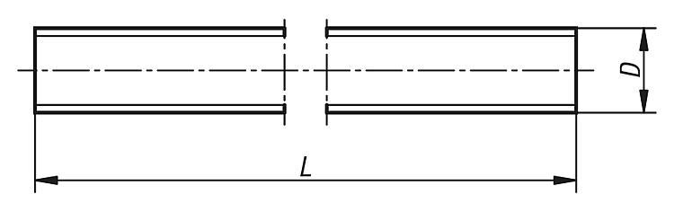 "Filetage 1 tige fileté a2 DIN 976 UNC 7//16/""-14x1 FT 304,8 Mm"