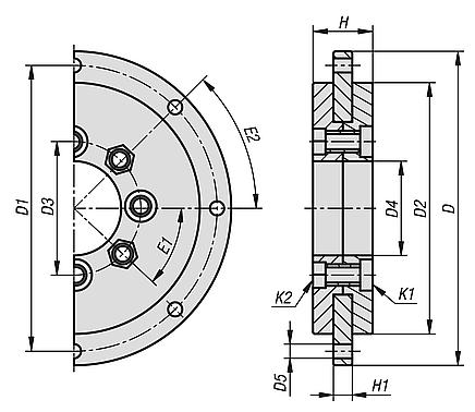 Plain bearings for rotary stages
